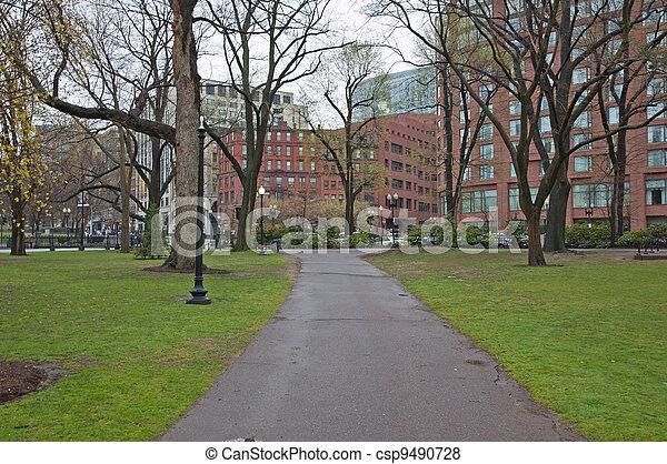 Boston Public Garden - csp9490728