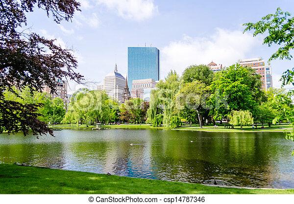 Boston Public Garden - csp14787346