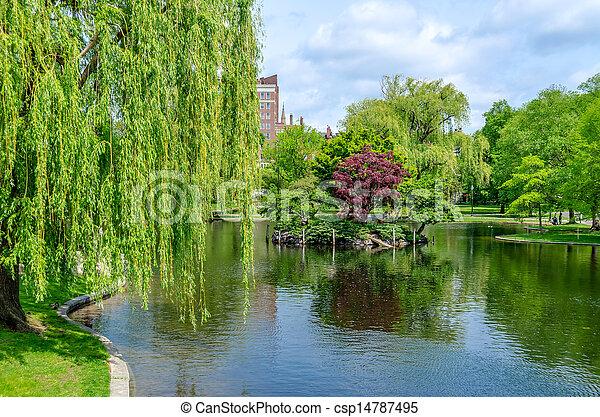 Boston Public Garden - csp14787495