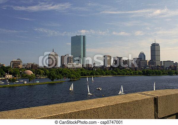 Boston desde el puente - csp0747001