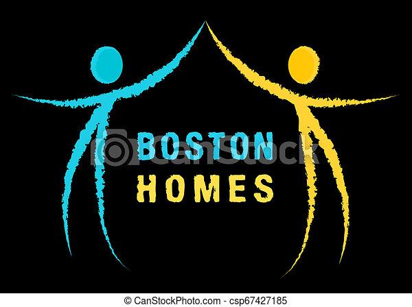Boston Real Estate Icon Represents Property In Massachusetts 3d Illustration - csp67427185