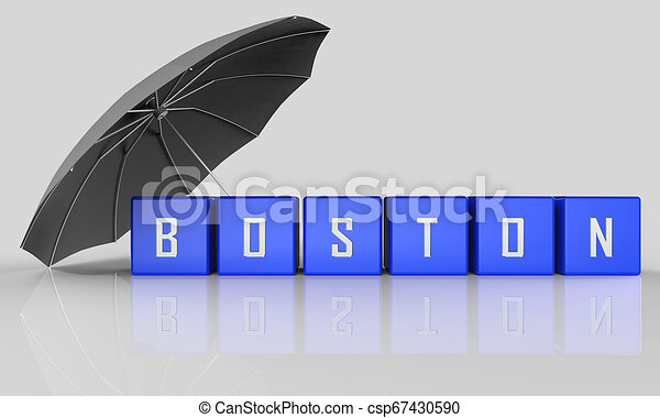 Boston Real Estate Word Represents Property In Massachusetts 3d Illustration - csp67430590
