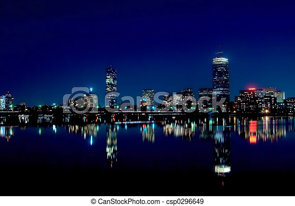 Boston Skyline 2 - csp0296649