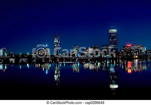 Boston Skyline 2 - csp0296649