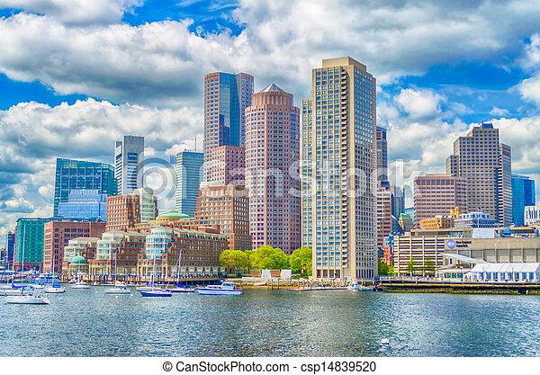 Boston Skyline - csp14839520