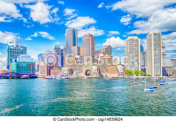 Boston Skyline - csp14839624