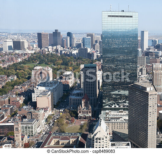 Boston Skyline - csp8489083