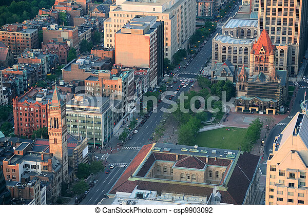 Boston street aerial view - csp9903092