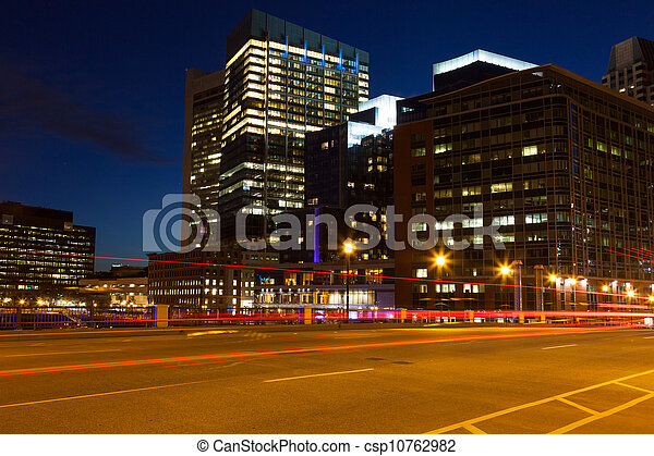 Boston streets by night - csp10762982