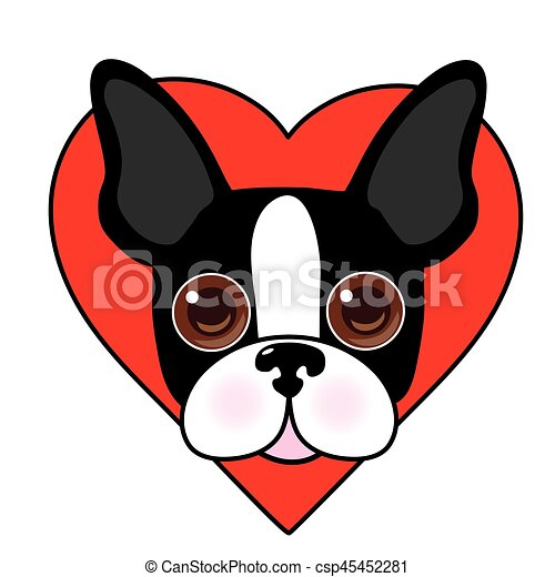 boston terrier face a cute illustration of a boston terrier face rh canstockphoto com boston terrier clip art images boston terrier christmas clip art