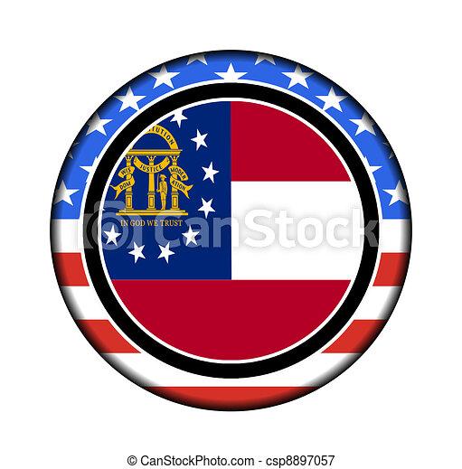 botão, américa, geórgia - csp8897057