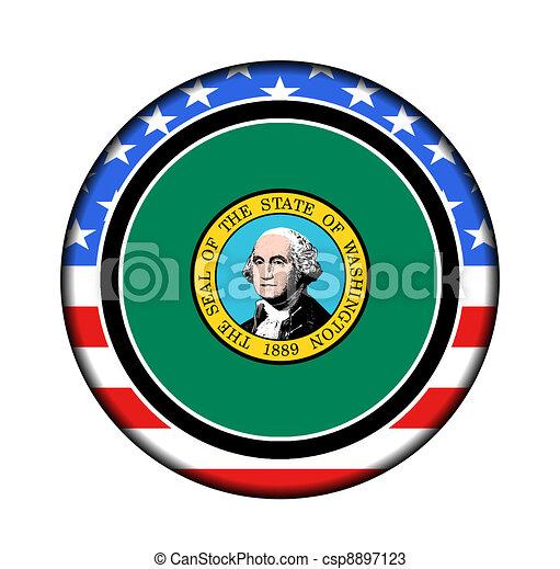 botão, américa, washington - csp8897123