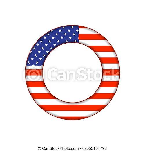 botão, bandeira, eua - csp55104793