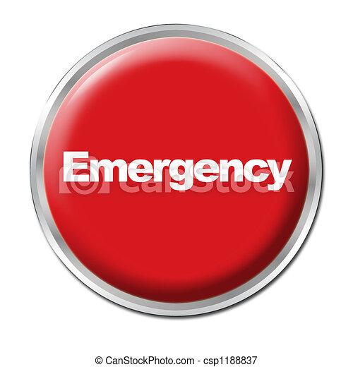 botão, emergência - csp1188837