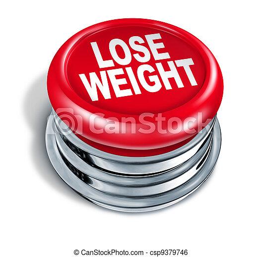 botão, peso, rapidamente, perder - csp9379746
