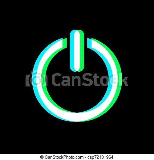 botão, símbolo, ativar, arte, visual - csp72101964