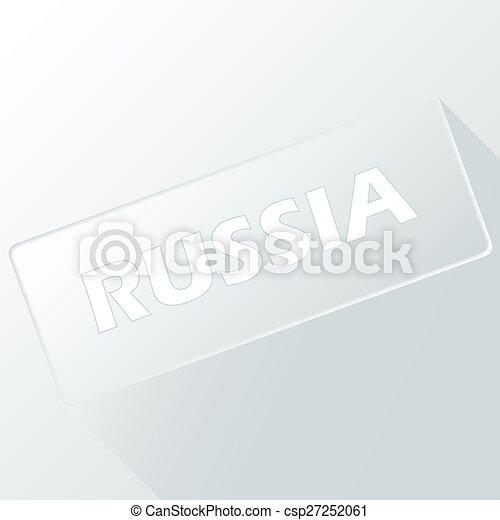 Un botón único de Rusia - csp27252061