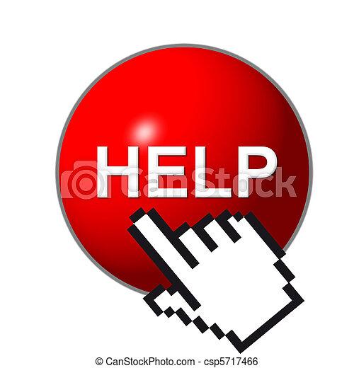 botón, ayuda, 3d - csp5717466