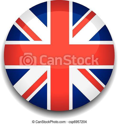 Botón Bandera Reino Unido Bandera Botón Reino Unido
