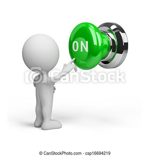 Botón encendido - csp16694219
