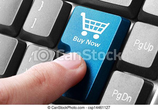 Compra ahora el botón del teclado - csp14461127