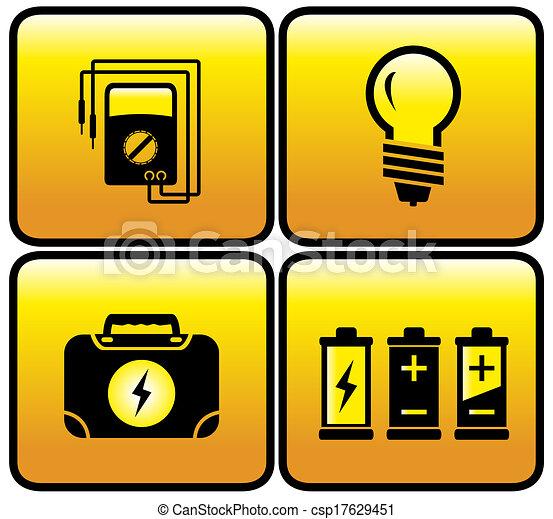 Glossy botón eléctrico - csp17629451