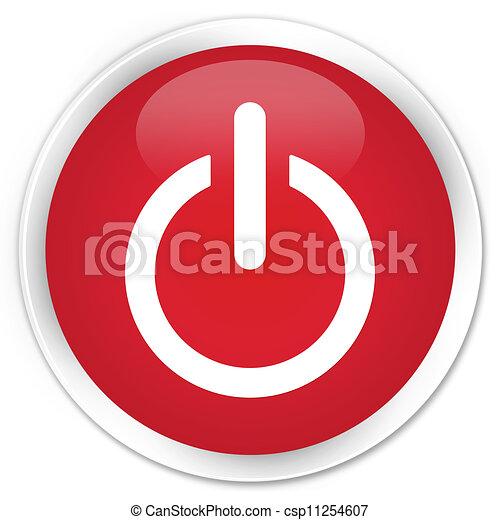 Apaga el botón rojo icono - csp11254607