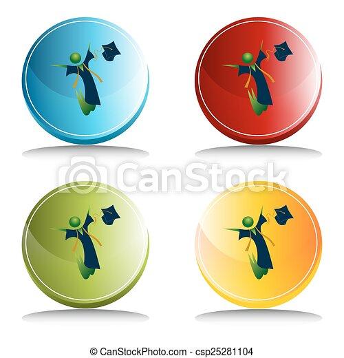 Feliz botón de graduación - csp25281104
