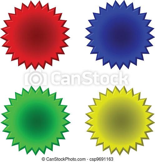Botón en forma de estrella - csp9691163