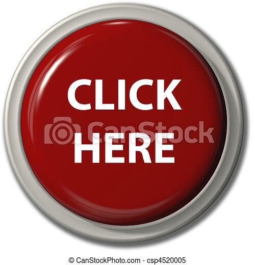 Clávate aquí, sombra de botón rojo - csp4520005