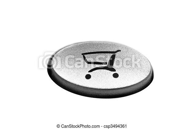 Botón de compras en línea - csp3494361
