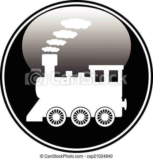 Botón de locomotora - csp21024840