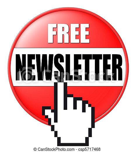 botón, newsletter, 3d - csp5717468