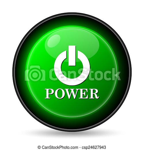 botón, potencia, icono - csp24627943
