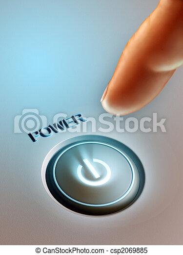 Botón de energía - csp2069885