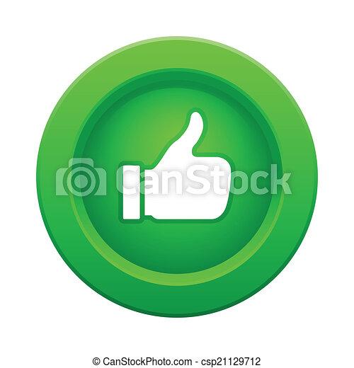 botón, pulgar verde, arriba - csp21129712