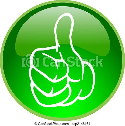 Botón de pulgar verde arriba - csp2146164