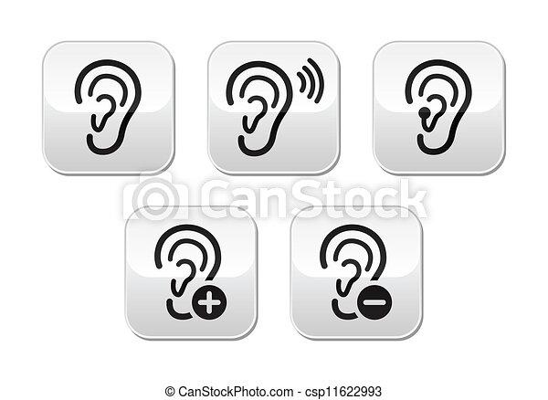 Grficos vectoriales EPS de botn sordo audfono problema