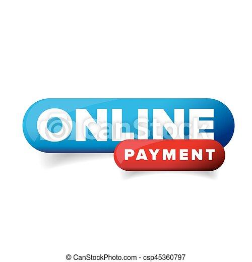 Vector de botón de pago en línea - csp45360797
