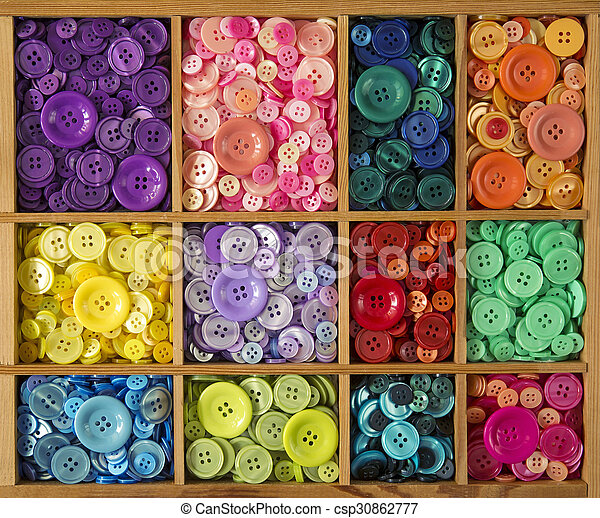 botões, coloridos - csp30862777