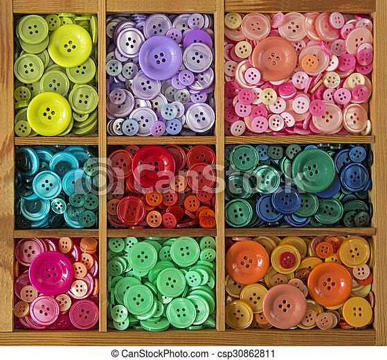 botões, coloridos - csp30862811