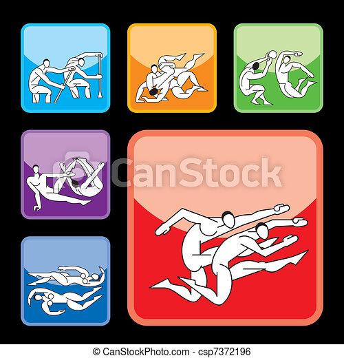 botões, desporto, jogo, 6 - csp7372196