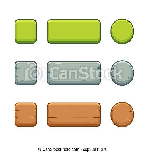 botões, jogo, jogo - csp33913870