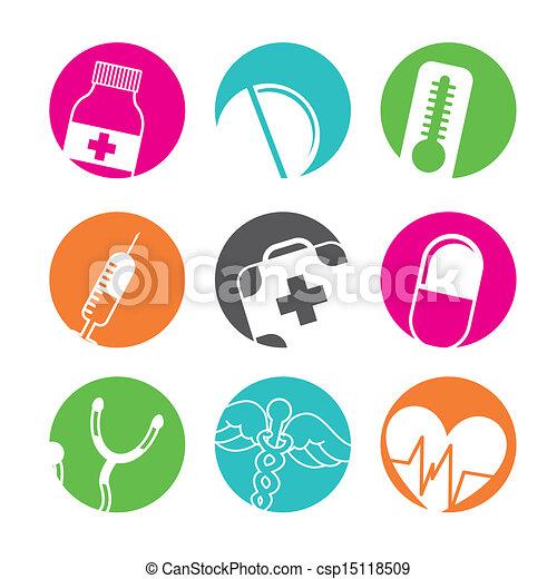 botões, médico - csp15118509