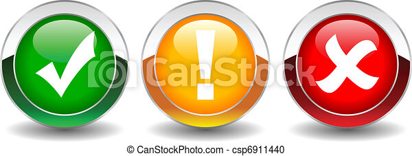 botões, segurança, vetorial - csp6911440