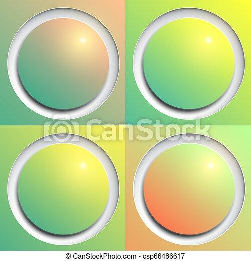botões, teia, brilhante - csp66486617