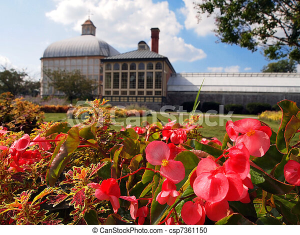 Botanical Garden and Conservatory in Baltimore - csp7361150