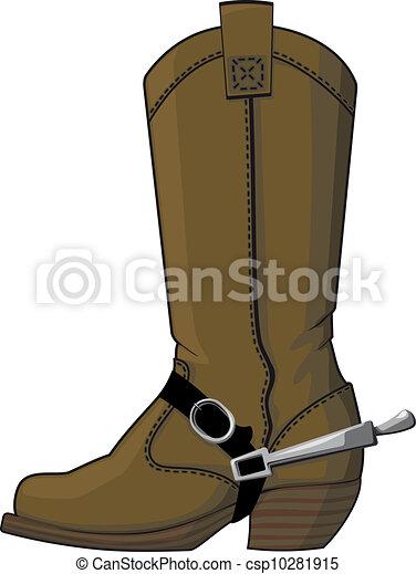 botas, espuelas, vaquero - csp10281915