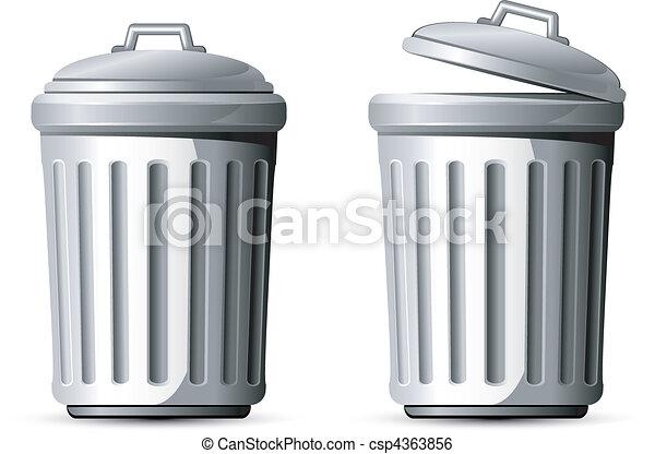 La lata de basura - csp4363856