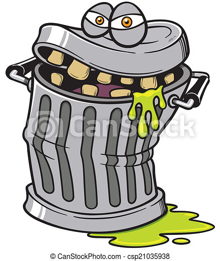 Latas de basura - csp21035938